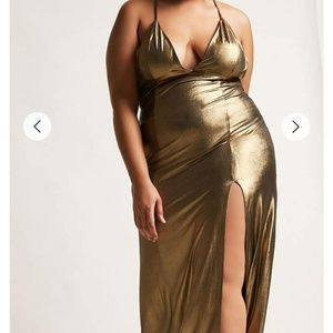 Forever 21 plus size gold Maxi dress